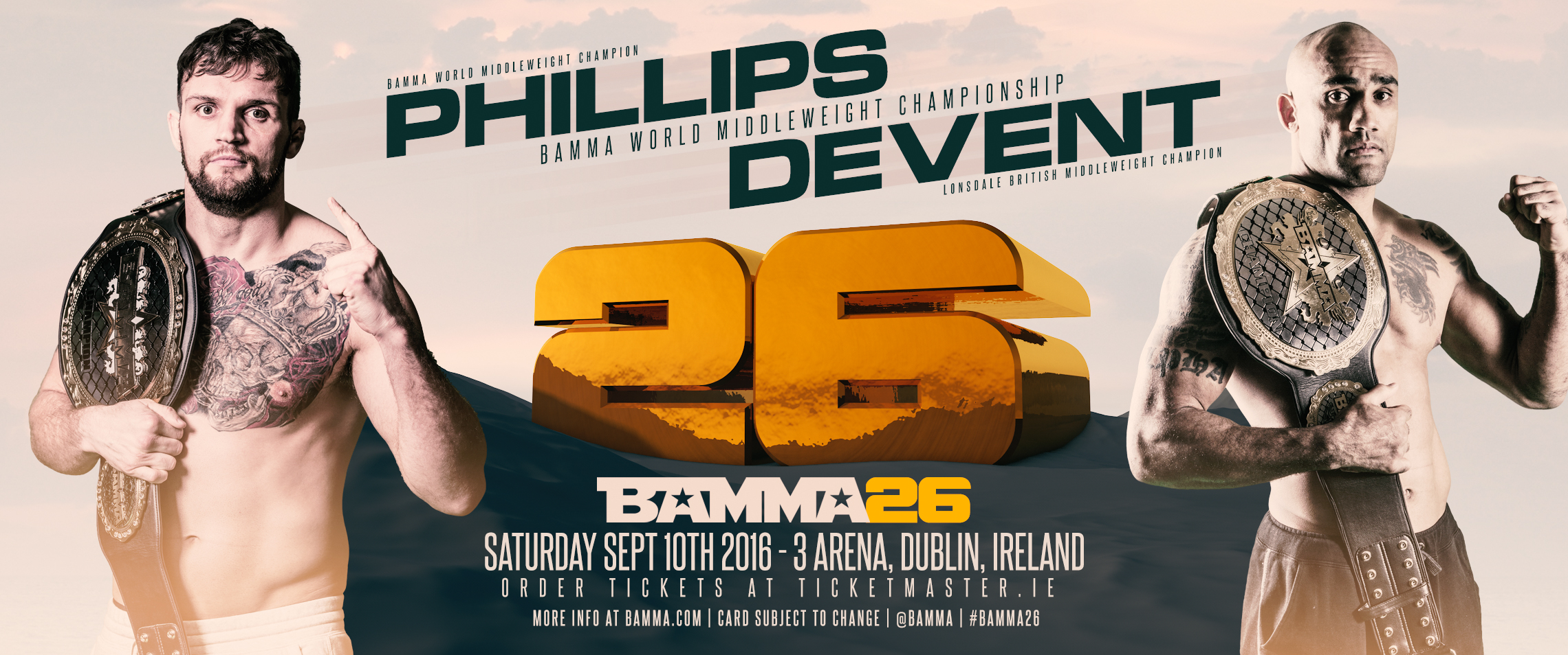 Big Title Fight Added To BAMMA 26 Lineup