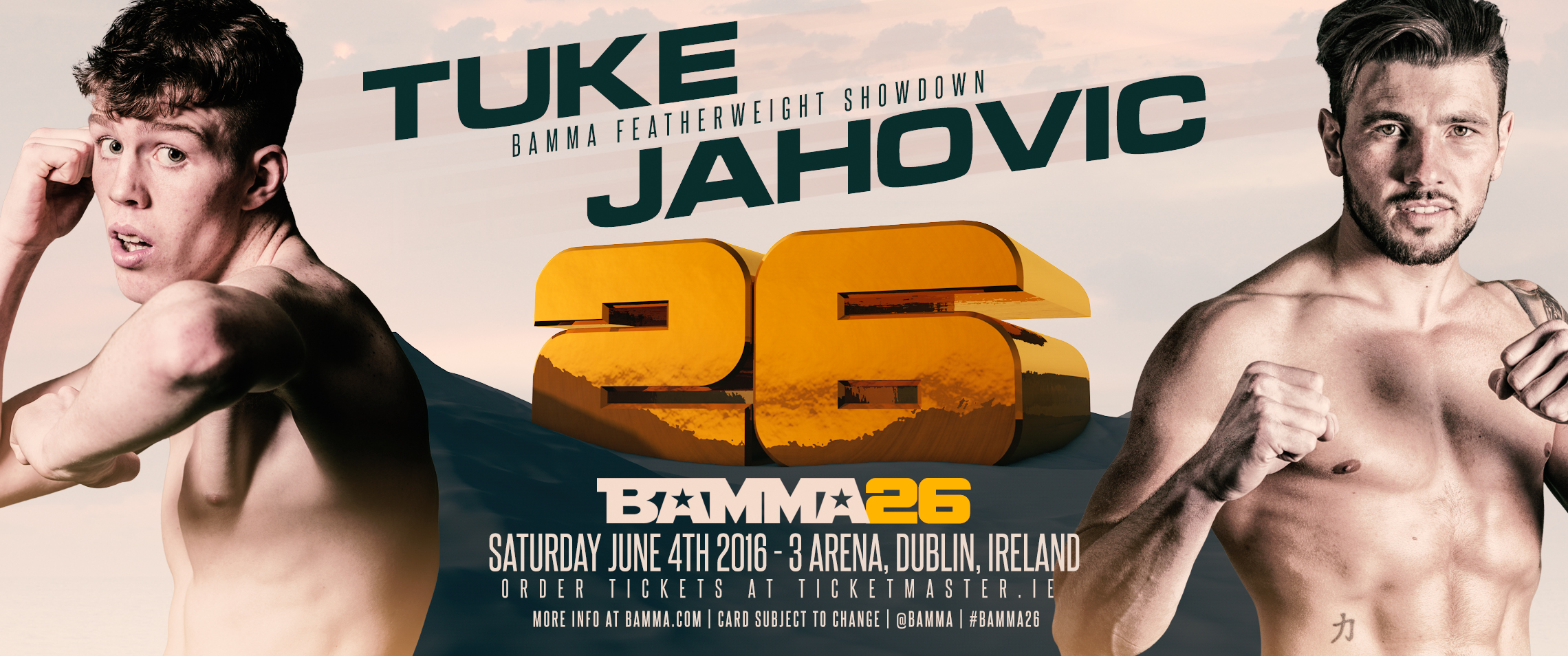Tuke vs Jahovic + 4 Other Bouts Added  To BAMMA 26