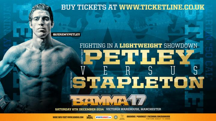 Martin Stapleton Signs with BAMMA and faces Jeremy Petley