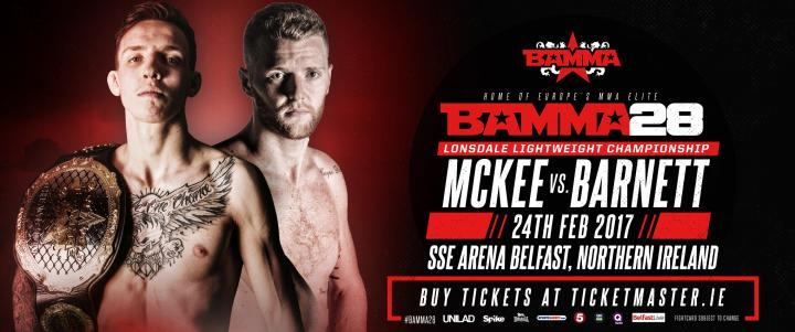 Rhys McKee Get New Opponent For The Lonsdale Title At BAMMA