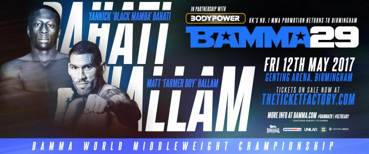 BAMMA World Middleweight Title On The Line At BAMMA 29