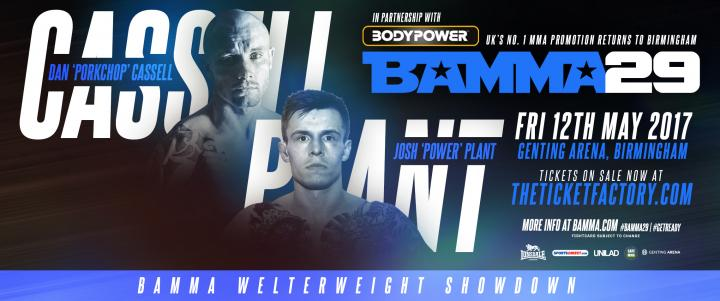 Plant Vs. Cassell Joins BAMMA 29 Prelims