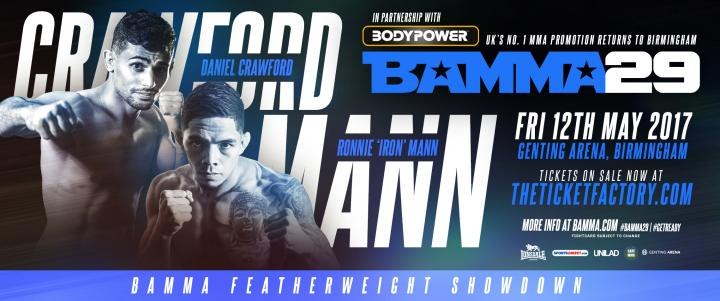 Mann Vs. Crawford Set For A Featherweight Battle At BAMMA 29