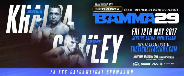 Cian Cowley Vs. David Khalsa set for BAMMA 29