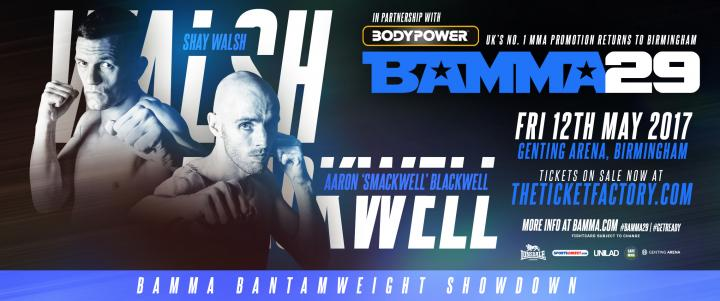 Walsh Vs. Blackwell & Martin Vs. Rutkowski Added to BAMMA 29