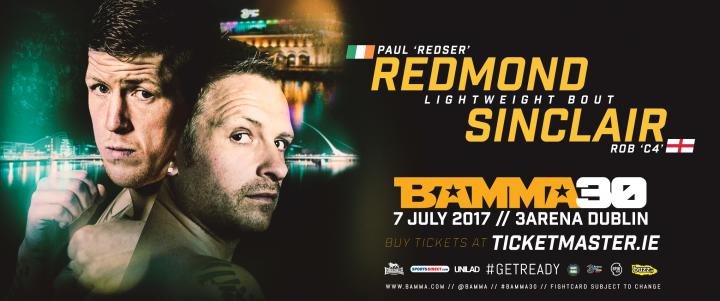 Sinclair Vs Redmond First fight to be announced for BAMMA 30