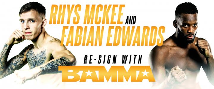Rhys McKee And Fabian Edwards Re-Sign With BAMMA
