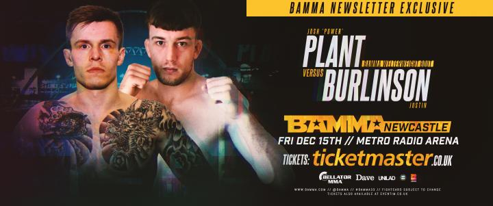Josh Plant Vs. Justin Burlinson set for BAMMA Newcastle
