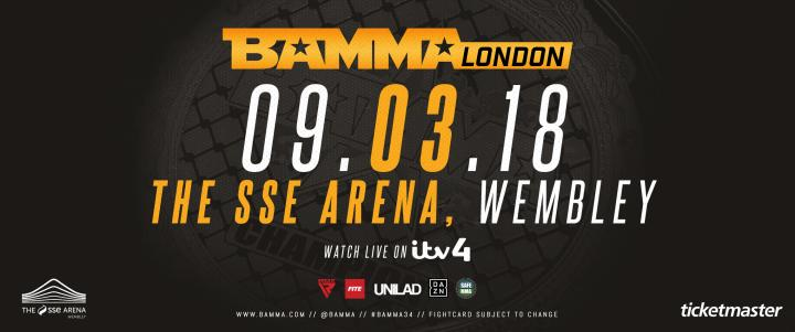 BAMMA London Set For March 9th 2017
