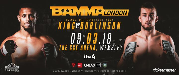 Justin Burlinson Vs. Tommy King Added To BAMMA 34