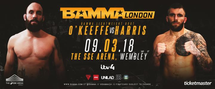 Steve O'Keeffe Vs. Martyn Harris Set For BAMMA 34