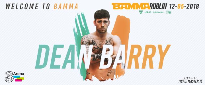Dean Barry Signs With BAMMA