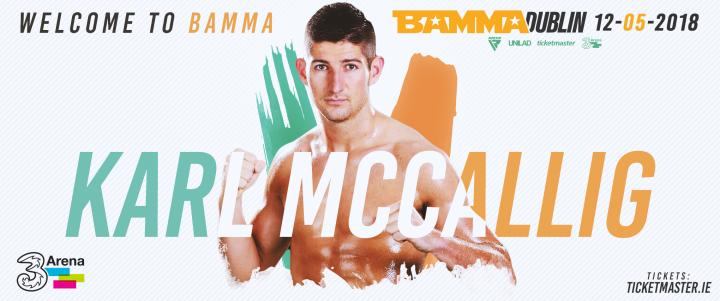 Karl McCallig Joins The BAMMA Welterweight Division