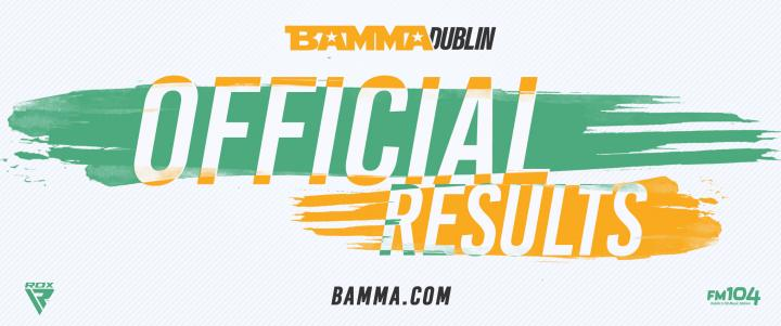 BAMMA 35: Lohore Vs. Pascu - Official Results