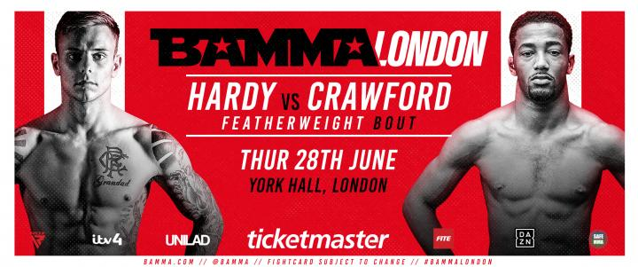 Hardy Vs. Crawford Added To BAMMA Fight Night London
