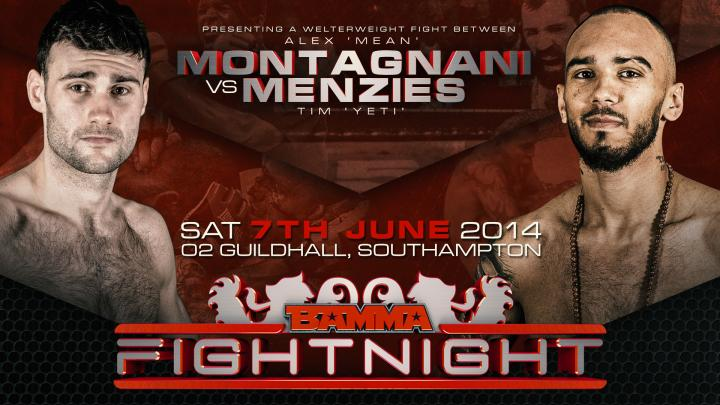 Menzies Vs. Montagnani added to BAMMA Fight Night