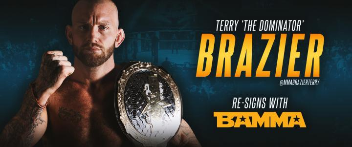 Terry 'The Dominator' Brazier Re-Signs with BAMMA