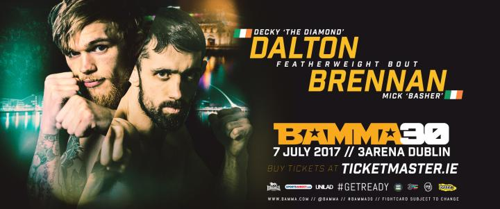 Dalton To Face Brennan At BAMMA 30 In Featherweight Bout