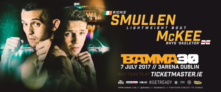McKee Vs Smullen No. 1 Contenders Bout Added To BAMMA 30