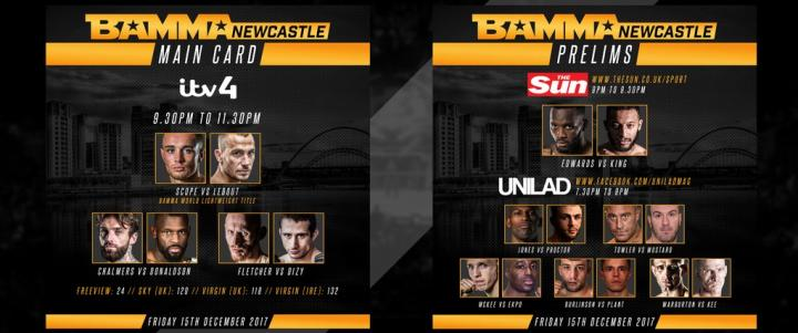 BAMMA Newcastle - Where to Watch