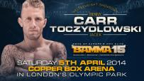 "BAMMA 15 Gets ""Brutal"" as Benny Carr faces Jacek Toczydlowsk"