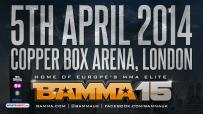 BAMMA 15 to be at The Copper Box Arena on April 5th 2014