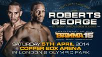Dyson Roberts set to face Jefferson George at BAMMA 15