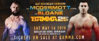 McDermott returns to face Sloane at BAMMA 25