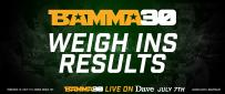 BAMMA 30: Philpott Vs. Walsh Official Weigh In Results