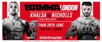 Khalsa Vs. Nicholls Added To BAMMA Fight Night London