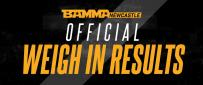 BAMMA 33: Scope Vs. Lebout Official Weigh In Results